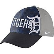 Nike Men's Detroit Tigers Dri-FIT Navy/Grey Swoosh Flex Fitted Hat