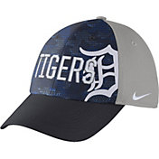 Nike Men's Detroit Tigers Dri-FIT Navy/Grey Swoosh Flex Fitted Hat