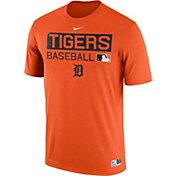 Nike Men's Detroit Tigers Dri-FIT Authentic Collection Orange Legend T-Shirt