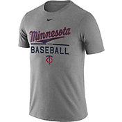 Nike Men's Minnesota Twins Practice Grey T-Shirt