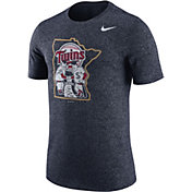 Nike Men's Minnesota Twins Marled Navy T-Shirt