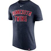 Nike Men's Minnesota Twins Dri-Blend Navy DNA T-Shirt