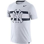 Nike Men's New York Yankees Dri-Blend White Local Stripes T-Shirt