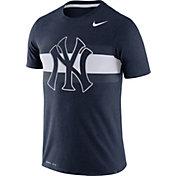 Nike Men's New York Yankees Dri-Blend Navy Local Stripes T-Shirt