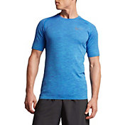 Nike Men's Dry Knit Short Sleeve Printed Running Shirt