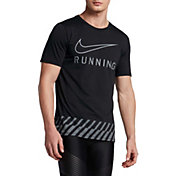 Nike Men's Dry Swoosh Stripe Running T-Shirt