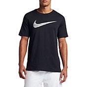 Nike Men's Dry Heathered Swoosh Graphic T-Shirt