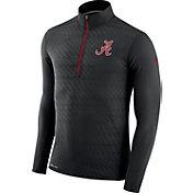 Nike Men's Alabama Crimson Tide Black Element Quarter-Zip Shirt