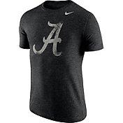 Nike Men's Alabama Crimson Tide Heathered Black Tri-Blend Stamp T-Shirt