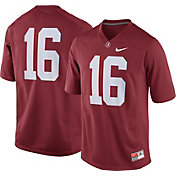 Nike Men's Alabama Crimson Tide #16 Crimson Game Football Jersey