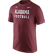 Nike Men's Alabama Crimson Tide Crimson Football Sideline Facility T-Shirt