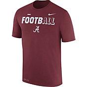 Nike Men's Alabama Crimson Tide Crimson FootbALL Sideline Legend T-Shirt