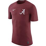 Nike Men's Alabama Crimson Tide Crimson Nike Pro Hypercool Fitted Football T-Shirt