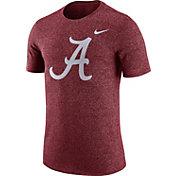 Nike Men's Alabama Crimson Tide Crimson Marled Logo T-Shirt