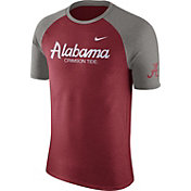 Nike Men's Alabama Crimson Tide Crimson/Grey Script Tri-Blend Raglan T-Shirt