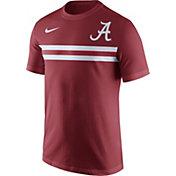 Nike Men's Alabama Crimson Tide Crimson Team Stripe Football T-Shirt