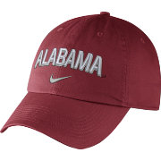 Nike Men's Alabama Crimson Tide Crimson Heritage86 Wordmark Swoosh Flex Hat