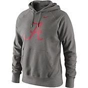 Nike Men's Alabama Crimson Tide Grey Classic Logo Hoodie