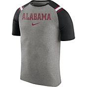Nike Men's Alabama Crimson Tide Grey/Black Shoulder Stripe T-Shirt