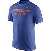Nike Men's Boise State Broncos Blue Football Sideline Facility T-Shirt