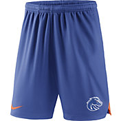 Nike Men's Boise State Broncos Blue Knit Football Sideline Performance Shorts