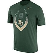 Nike Men's Baylor Bears Green Football Icon Legend T-Shirt