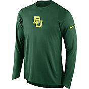 Nike Men's Baylor Bears Green ELITE Shooter Long Sleeve Shirt