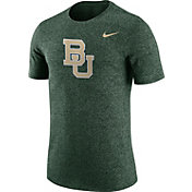 Nike Men's Baylor Bears Green Marled Logo T-Shirt