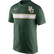 Nike Men's Baylor Bears Green Team Stripe Football T-Shirt