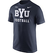 Nike Men's BYU Cougars Blue Football Sideline Facility T-Shirt