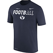 Nike Men's BYU Cougars Blue FootbALL Sideline Legend T-Shirt