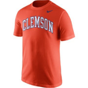 Nike Men's Clemson Tigers Orange Wordmark T-Shirt
