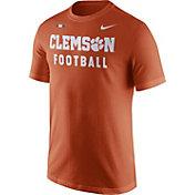 Nike Men's Clemson Tigers Orange Football Sideline Facility T-Shirt
