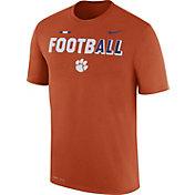 Nike Men's Clemson Tigers Orange FootbALL Sideline Legend T-Shirt