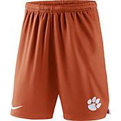Nike Men's Clemson Tigers Orange Knit Football Sideline Performance Shorts