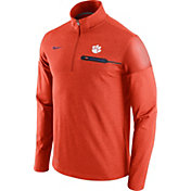 Nike Men's Clemson Tigers Orange Elite Coaches Half-Zip Shirt