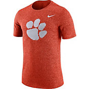 Nike Men's Clemson Tigers Orange Marled Logo T-Shirt
