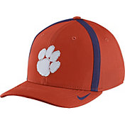 Nike Men's Clemson Tigers Orange Aerobill Swoosh Flex Classic99 Football Sideline Hat