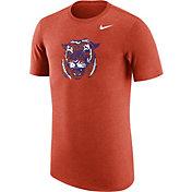 Nike Men's Clemson Tigers Heathered Orange Vault Tri-Blend T-Shirt