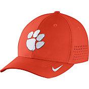 Nike Men's Clemson Tigers Orange Vapor Sideline Swoosh Flex Hat