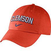 Nike Men's Clemson Tigers Orange Heritage86 Wordmark Swoosh Flex Hat
