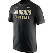 Nike Men's Colorado Buffaloes Football Sideline Facility Black T-Shirt