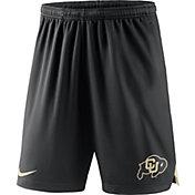 Nike Men's Colorado Buffaloes Black Knit Football Sideline Performance Shorts