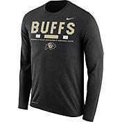 Nike Men's Colorado Buffaloes Football Sideline Staff Legend Black Long Sleeve Shirt