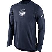 Nike Men's UConn Huskies Blue ELITE Shooter Long Sleeve Shirt