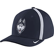 Nike Men's UConn Huskies Blue Aerobill Swoosh Flex Classic99 Football Sideline Hat