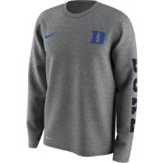 Nike Men's Duke Blue Devils Grey Free Trainer 2.0 Hook Legend Long Sleeve Shirt