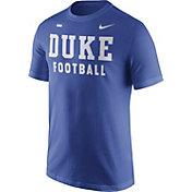 Nike Men's Duke Blue Devils Duke Blue Football Sideline Facility T-Shirt