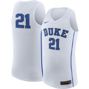 Nike Men's Duke Blue Devils White #21 Replica ELITE Basketball Jersey