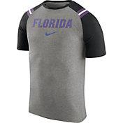 Nike Men's Florida Gators Grey/Black Shoulder Stripe T-Shirt